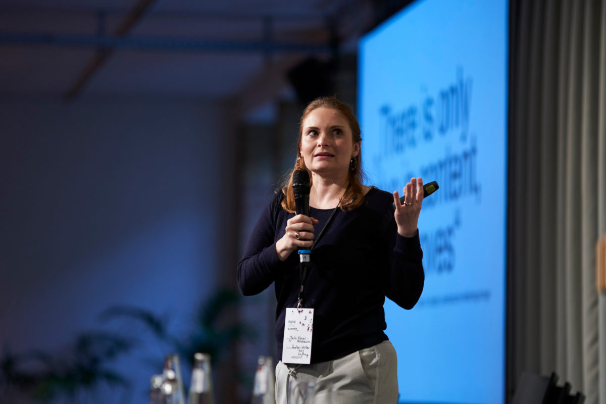 Julia Kovar-Mühlhausen beim Digital Social Summit 2019