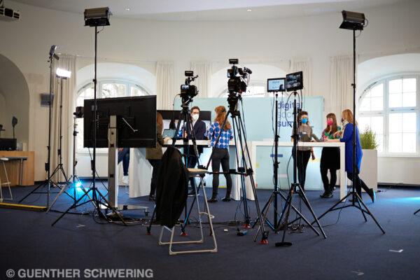 Studio des Digital Social Summit in Hamburg